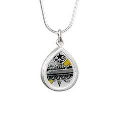 thunderbolttank Silver Teardrop Necklace