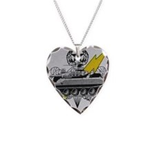 thunderbolttank Necklace Heart Charm