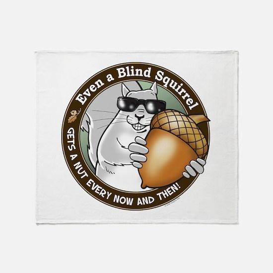 Blind Squirrel Throw Blanket