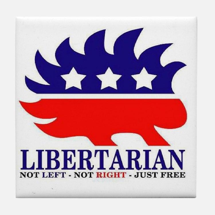 Libertarian Porcupine Tile Coaster