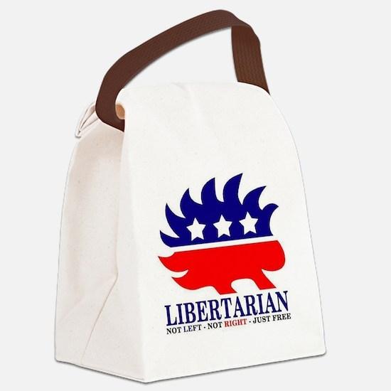 Libertarian Porcupine Canvas Lunch Bag