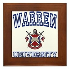 WARREN University Framed Tile