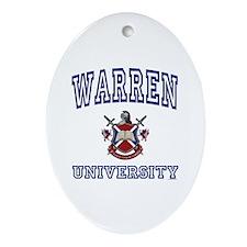 WARREN University Oval Ornament