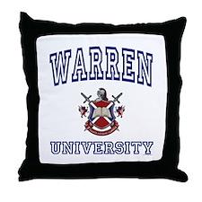 WARREN University Throw Pillow