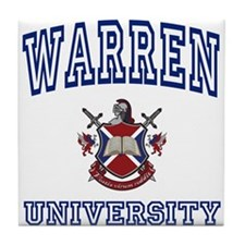 WARREN University Tile Coaster