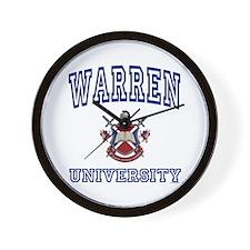 WARREN University Wall Clock