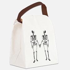 Skeletons Holding Hands Canvas Lunch Bag
