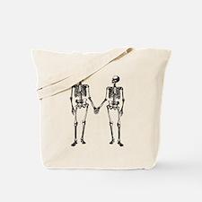 Skeletons Holding Hands Tote Bag
