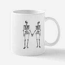Skeletons Holding Hands Small Small Mug