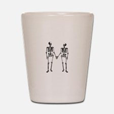 Skeletons Holding Hands Shot Glass