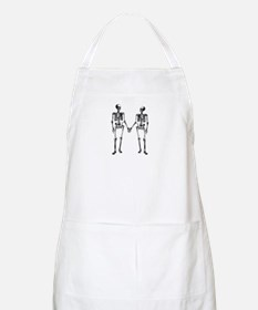 Skeletons Holding Hands Apron
