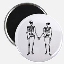 Skeletons Holding Hands Magnet