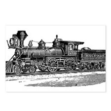 Vintage Train Postcards (Package of 8)