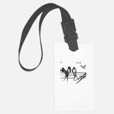 Swallows on Wires Luggage Tag