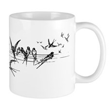 Swallows on Wires Small Small Mug