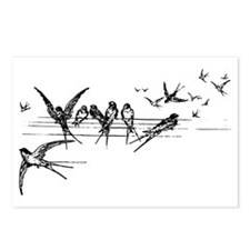 Swallows on Wires Postcards (Package of 8)