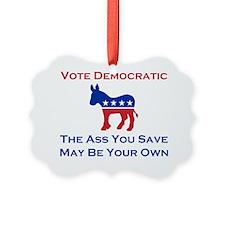 Vote Democratic Ornament