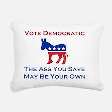 Vote Democratic Rectangular Canvas Pillow