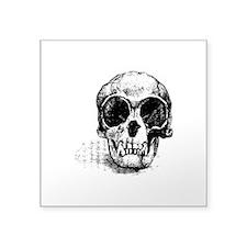 "Monkey Skull Square Sticker 3"" x 3"""
