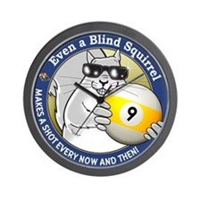 9-Ball Blind Squirrel Wall Clock