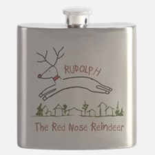 Flying Rudolph Flask