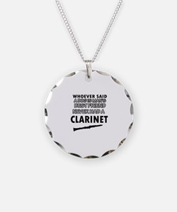 Cool Clarinet designs Necklace