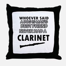 Cool Clarinet designs Throw Pillow