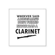 "Cool Clarinet designs Square Sticker 3"" x 3"""