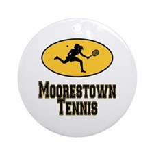 Moorestown Tennis Ornament (Round)