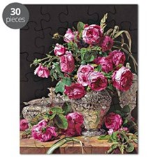 Roses, artwork by Ferdinand Georg Waldmulle Puzzle