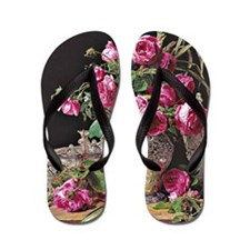 Roses, artwork by Ferdinand Georg Waldm Flip Flops