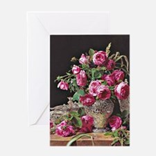 Roses, artwork by Ferdinand Georg Wa Greeting Card