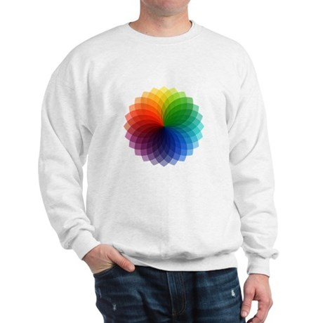Abstract colorful flower Sweatshirt