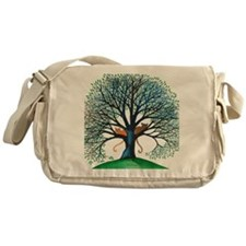Corozal Stray Cats in Tree by Lori A Messenger Bag