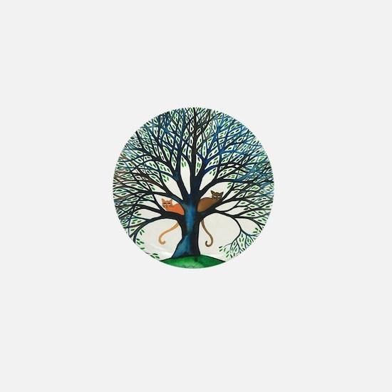 Corozal Stray Cats in Tree by Lori Ale Mini Button
