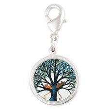 Corozal Stray Cats in Tree by  Silver Round Charm
