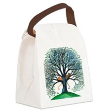 Corozal Stray Cats in Tree by Lor Canvas Lunch Bag