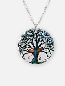 Corozal Stray Cats in Tree b Necklace