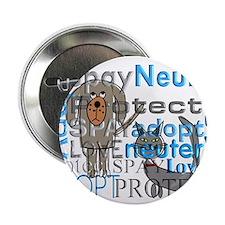 """Spay Neuter Adopt 2 2.25"""" Button (100 pack)"""