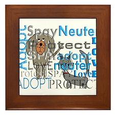 Spay Neuter Adopt 2 Framed Tile