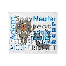 Spay Neuter Adopt 2 Throw Blanket