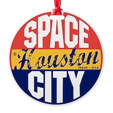 Houston Vintage Label B Ornament