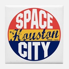 Houston Vintage Label B Tile Coaster