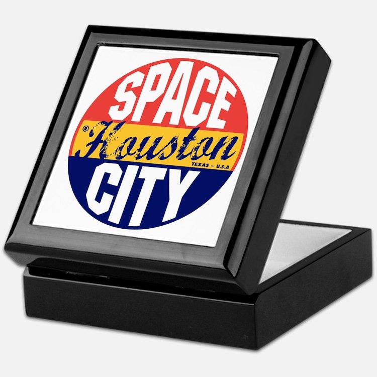Houston Vintage Label B Keepsake Box