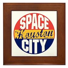 Houston Vintage Label B Framed Tile
