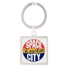 Houston Vintage Label B Square Keychain