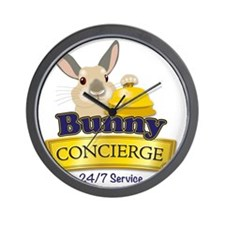 Bunny Concierge Wall Clock