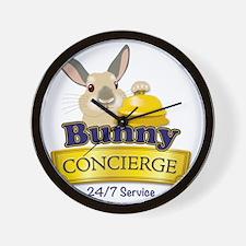 Bunny Concierge Wall Clock