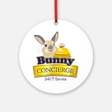 Bunny Concierge Round Ornament