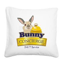 Bunny Concierge Square Canvas Pillow